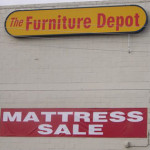 Furniture Depot Warehouse Pricing Display Gallery in Reno Nevada building
